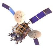 modell 3D av en konstgjord satellit av jorden Arkivfoton