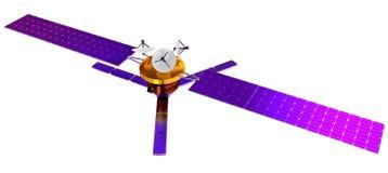 modell 3D av en konstgjord satellit av jorden Royaltyfria Bilder