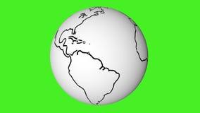 modell 3D av jordklotanimeringöglan stock video