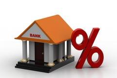 Modell 3d von Bank Stockbilder