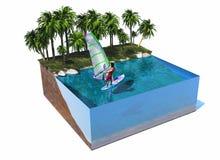 Modell der Insel stock abbildung