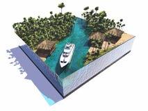 Modell der Insel vektor abbildung