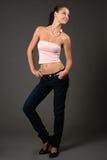 Modell in der rosa Spitze Lizenzfreie Stockfotos