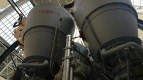 Modell der russischen Maschine der Weltraumrakete RD-170 an der Raumhalle, VDNKh stock video footage