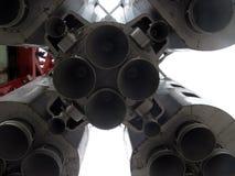 Modell der sowjetischen Weltraumrakete Wostok stockfoto