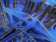 Modell der Straßen stockbild