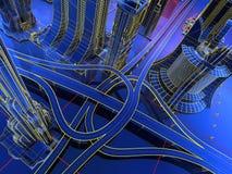 Modell der Straßen stock abbildung