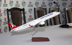 Modell der TC-JSE Turkish Airlines Airbus A321-200 Flugzeuge Stockfotos