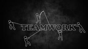Modell der Teamarbeit Stockfotografie