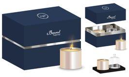 Modell des Aromakerzenpaketkasten-Designs 3d Lizenzfreie Stockbilder