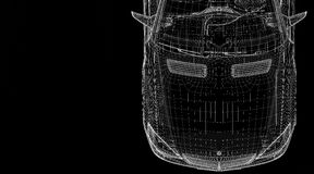 Modell des Autos 3D Stockfoto