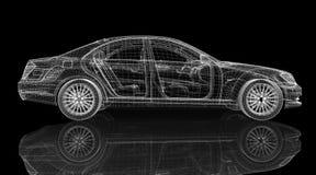 Modell des Autos 3D Lizenzfreies Stockbild