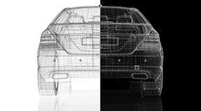 Modell des Autos 3D Stockbilder