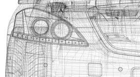Modell des Autos 3D Stockbild
