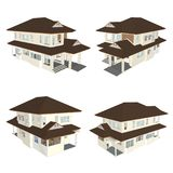 Modell des Hauses 3d Stockbilder