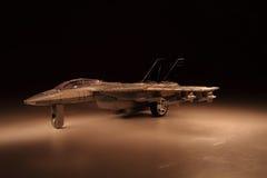 Modell des Luftkämpfers in der Nacht Lizenzfreies Stockbild