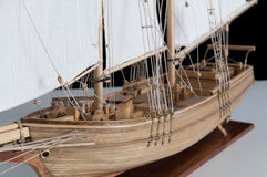 Modell des Schiffes stockfotos