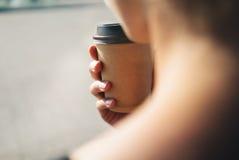 Modell ein Tasse Kaffee Stockfoto