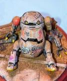 Modell eines rostigen Roboters stockbild