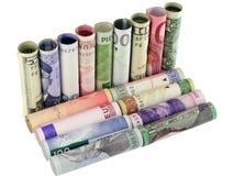 Modell eines Sofas vom Geld stockfoto