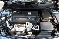Modell Engine för Mercedes-Benz CLA 45 AMG 4MATIC 2013 Royaltyfria Bilder