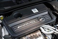Modell Engine för Mercedes-Benz CLA 45 AMG 4MATIC 2013 Fotografering för Bildbyråer