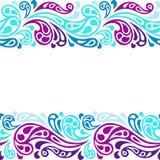Modell för abstrakt begrepp för vågor för vattenfärgstänk sömlös Royaltyfri Bild
