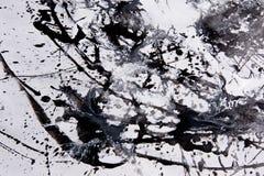 Modell för abstrakt expressionism Stil av droppandemålning Svärta vektor illustrationer