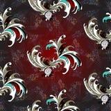Modell för abstrakt vektor för blommakronblad sömlös för upplyst tapet för bakgrund Royaltyfria Foton
