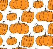 Modell för allhelgonaaftonpumpavektor Enkel illustration av halloween pumpor för webbsidabakgrund, inpackningspapper Arkivbilder