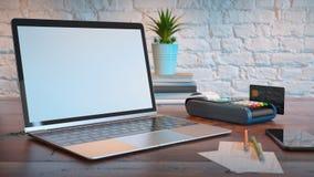 Modell för anmärkningsbok för att marknadsföra direktanslutet och kreditkort stock illustrationer