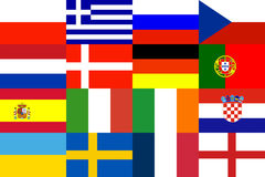 modell för bakgrundsEuropa fotboll Royaltyfri Bild