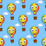 Modell för ballong för varm luft för tecknad film sömlös Royaltyfri Fotografi