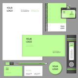Modell för beståndsdelar för företags identitet vektor illustrationer