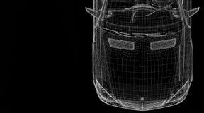 Modell för bil 3D Arkivfoto