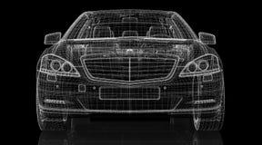 Modell för bil 3D Arkivbild