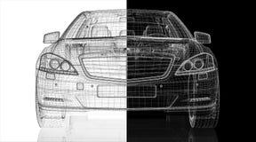 Modell för bil 3D Arkivbilder