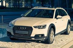 Modell för bil för quattro för allroad A4 ny av Audi 4WD övergång Fotografering för Bildbyråer