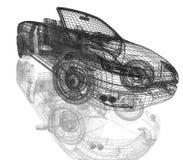 modell för bilar 3d Fotografering för Bildbyråer