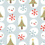 modell för blå jul för bakgrund seamless gullig Arkivfoto