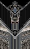 Modell för blå vit design för smycken abstrakt royaltyfri illustrationer