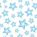 Modell för blåa stjärnor för vektor sömlös royaltyfri illustrationer
