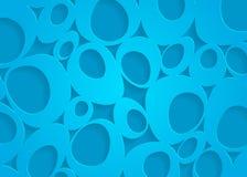 Modell för blått papper, abstrakt bakgrundsmall för websiten, baner, affärskort, inbjudan, vykort Royaltyfri Bild