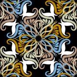 Modell för blom- vektor för broderi sömlös Etnisk stilgrunge P stock illustrationer