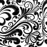 Modell för blom- vektor för broderi sömlös Etnisk stilgrunge P vektor illustrationer
