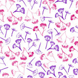 Modell för blomma för vattenfärgblomkronadill sömlös Royaltyfri Bild