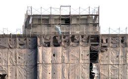 modell för byggnadskonstruktion under Arkivbild