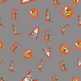 Modell för dag för ` s för vattenfärgSt-valentin sömlös med förälskelsebokstaven stock illustrationer