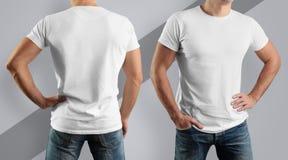 Modell för designen av kläder Ung man, främre sikt och lodisar arkivfoton