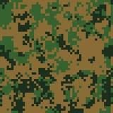 Modell för digital kamouflage för skog sömlös Arkivbild